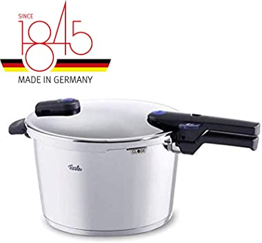 Fissler vitaquick Pressure Cooker Stainless Steel Induction, 8.5 Quart, silver