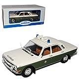 Model Car Group Wolga GAZ M24 Limousine Grün Weiss Volks Polizei DDR 1967-1992 1/18 Modell Auto
