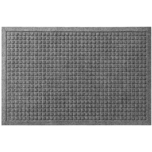 Gorilla Grip Original Ultra Water Absorbent Door Mat, 29x17, Traps Dirt and Absorbs Moisture, Fade Resistant, Quick Dry, Heavy Duty Doormats, Indoor Outdoor Entry Mats, High Traffic Areas, Gray