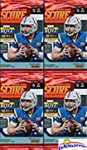 2019 Score NFL Football Collection of FOUR(4) Factory Sealed Packs with 48 Cards! Loaded with ROOKIES & INSERTS! Look for RCs & Autos of Kyler Murray, Daniel Jones, Dwayne Hoskins & Many More! WOWZZER