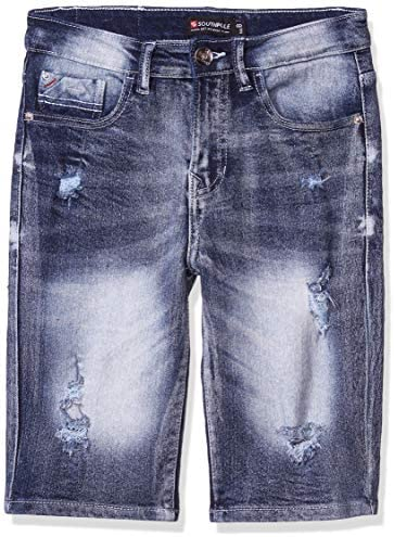 Southpole Kids Boys Big Ripped Denim Shorts Ice Blue Distressed 18 product image