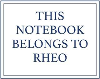 This Notebook Belongs to Rheo