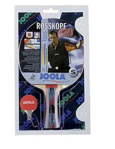 Joola Tischtennisschläger ROSSKOPF ACTION Tischtennis-Schläger ITTF Zulassung für Fortgeschrittene Spieler-5fach verleimtes Spezialsperrholz, Mehrfarbig, 1,8 MM Schwamm