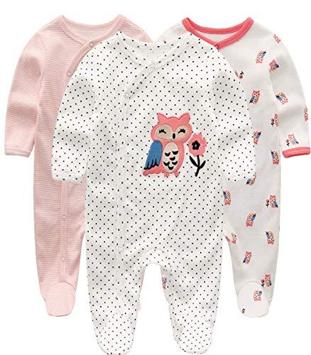 Kiddiezoom Baby Jungen Pyjama, eng-anliegend mit integrierten Schuhen, langarm, Baumwolle Gr. 6-9 Monate, kleiner Fuchs