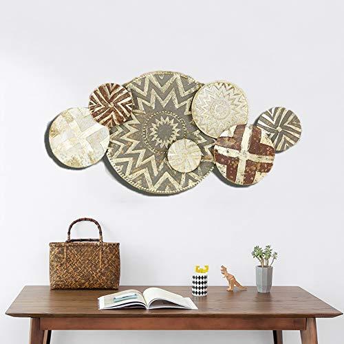 YLG Europäischer Stil Metall Wanddekoration, Wandkunst Aus Metall Gemacht, Geeignet Für Wohnzimmer Sofa Hintergrund