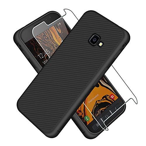 SDTEK Hülle für Samsung Galaxy XCover 4s Schwarz mit Schutzkanten