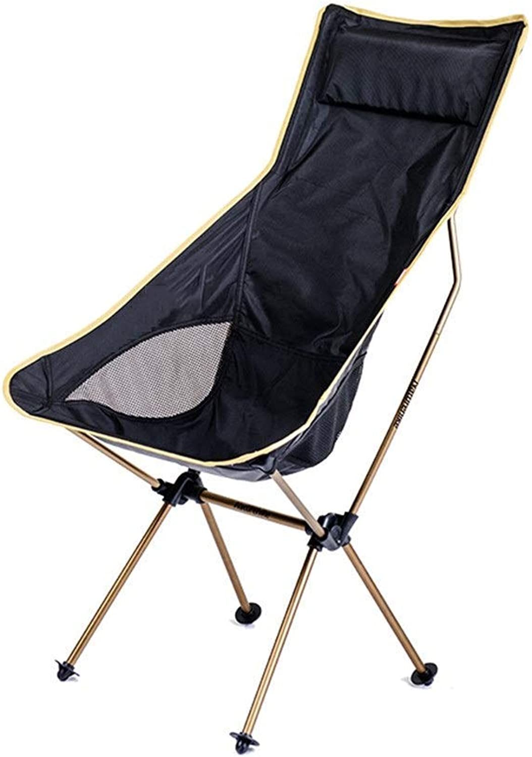 Outdoor Folding Chair, Aluminum Alloy Chair with Carry Bag, Perfect for Garden Camping Fishing Hiking Picnic Park,A