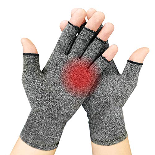 2 Pairs Arthritis Gloves for Women & Men - Compression Gloves for Arthritis...