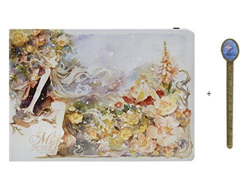 Bao core niebla bosque A5), duro, arte dibujo garabateando almohadillas dibujo libro Memo Notebook libro con ranuras de fotos 160hojas, tamaño 15x 21cm, color Art Day