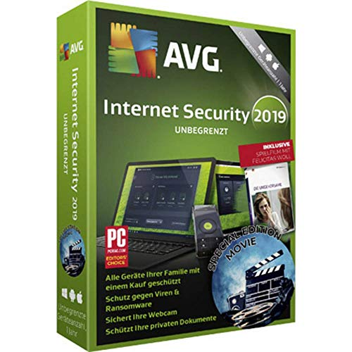 AVG Internet Security 2019 Special Edition Movie Versione Completa, unbegrenzte Geräteanzahl Windows, Mac