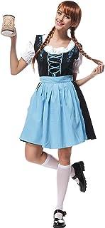XFentech Vestido de Dirndl para Mujeres, Traje Bávaro, Vestidos de Lujo, Falda de Dirndl, Trajes de Camarera de Cerveza,Traje de Oktoberfest