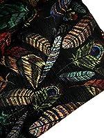 手入れしやすい 厚手 ポリエステル 生地 布 はぎれ 手作り エコバッグ 材料 プリント 柄 端切れ デニムリメイク ハンドメイド (native feather 2m)