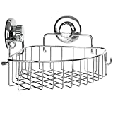 Best BINO Bathtub Caddies - HASKO accessories - Corner Shower Caddy with Suction Review