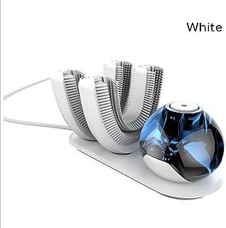 Natood 歯ブラシのヘッドの2、怠惰なKibasuriによる自動歯ブラシは、 電気怠惰な電動歯ブラシ用ワイヤレス充電式360°自動歯ブラシを設計され、白 白