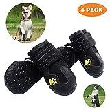 DWSFADA Pet Boots 4 Pcs Outdoor Waterproof and Wearproof Running Shoes formedium to