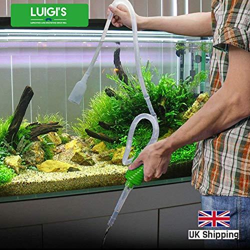 Luigi's Aquarium Mulmsauger - Handbetriebener Sauger für Wasserwechsel - Bodenreiniger für Aquarium Reinigung