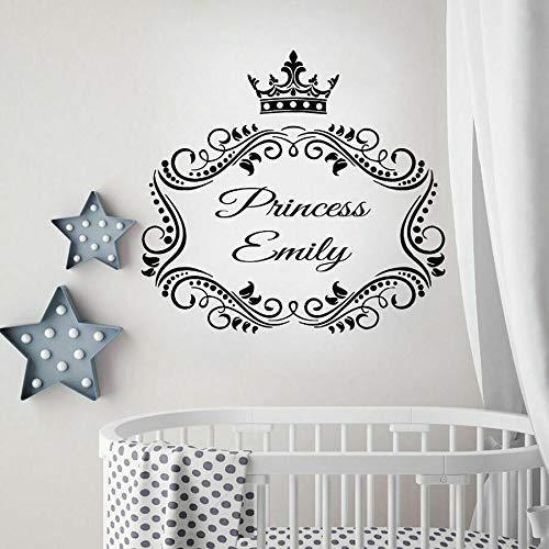 Tianpengyuanshuai muursticker prinses persoonlijkheid naam meisjes slaapkamer decoratie sticker voor ramen van vinyl