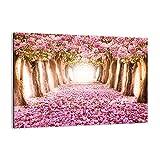 Cuadro sobre lienzo - Impresión de Imagen - Árbol flores cereza naturaleza - 100x70cm - Imagen Impresión - Cuadros Decoracion - Impresión en lienzo - Cuadros Modernos - AA100x70-2794
