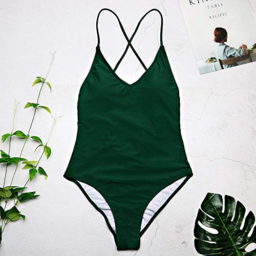 Comfortabele zomerzwemkleding Bikini's, sexy hoog uitgesneden zwempak voor dames, string string bikini met open rug, buikcontrole zwemkleding