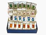 Países de todo el mundo Paquete de degustación de colores 24 deliciosas variedades de 25 g cada una con Jamaica Blue Mountain Coffee (Frijol entero)