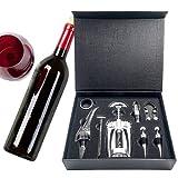 Juego Kit de Vino (8 Piezas) - Set de Accesorios Kit de Vino 8 piezas - Set de Vino Ideal para Regalo - Accesorios de vino