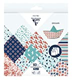 Clairefontaine – 1 funda origami 60 hojas 10 x 10 cm, 15 x 15 cm y 20 x 20 cm, 70 g, varios diseños, color Grand large