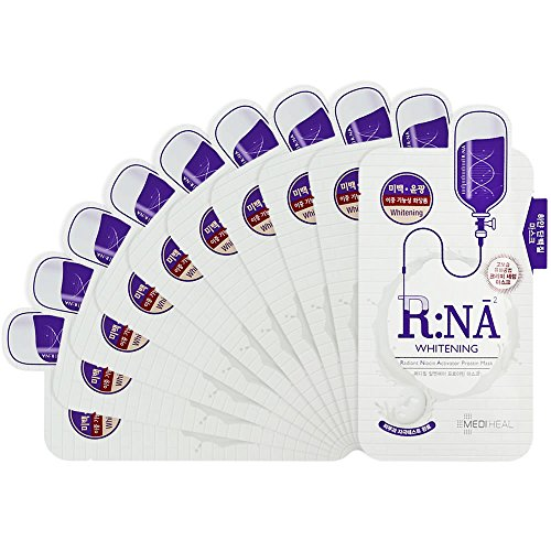MEDIHEAL R:NA Proatin Mask 10 Masks - Relieves Skin Stress, Skin Vitality, Radiant Skin Care Mask for Dull Skin