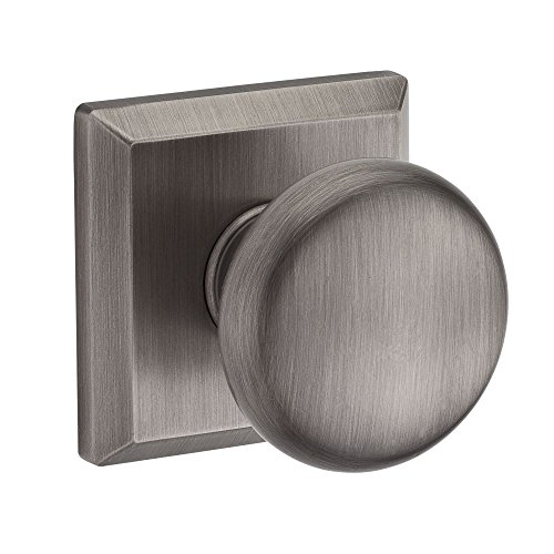 Baldwin PSROUTSR152 Reserve Passage Round with Traditional Square Rose in Matte Antique Nickel Finish