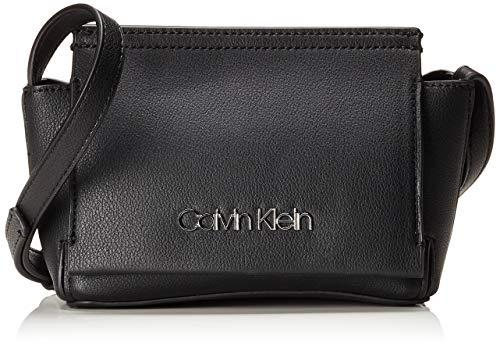 Calvin Klein - Stitch Flap Crossbody, Bolsos bandolera Mujer, Negro (Black), 8x29x14.5 cm (B x H T)
