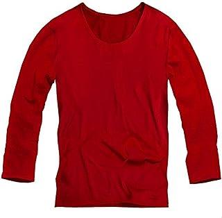 Tシャツ メンズ 男性 紳士服 無地 ゆるT 長袖 ロング  カットソー トップス メンズファッション  レッド 赤 f345
