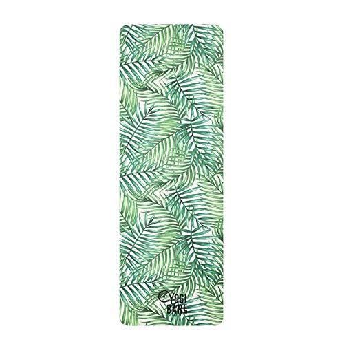 Yogi-Bare Teddy - Esterilla de Yoga DE Viaje Esterilla DE Viaje y para Yoga Caliente Superficie de Toalla de Microfibra - Tropical
