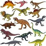 Boley 14-Pack 10 Inch Educational Dinosaur Toys - Realistic Educational Toy Dinosaur Figures For Kids, Children,...