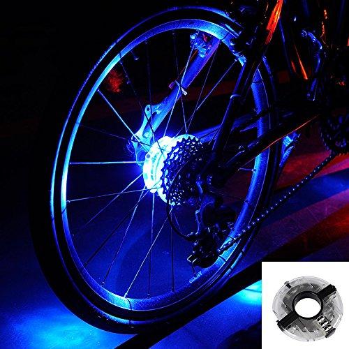 自転車 LED ホイールライト,Evary 自転車タイヤ用ライト デコレーションラ ンプ 簡単取り付け 防水 安全警...