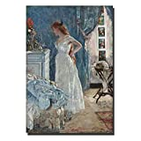 QQCYWZK Sin Marco Beautiful Girl Oil ng World Famous ng Replica Print On Canvas Wall Posters and Prints Home Decor 50x70cm