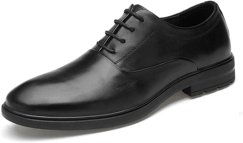 CHENDX Schuhe, Schuhe, Herren Business Oxford Classic Einfache Casual Pure Farbe Formelle Schuhe (Slip On Optional) (Farbe   Schwarz, Größe   42 EU)  Kostenloser Versand