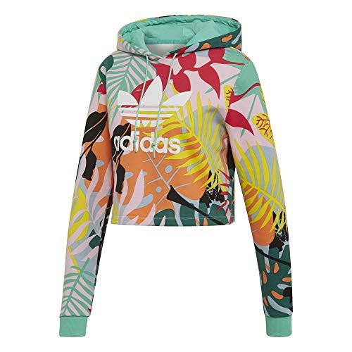 adidas Crop Hoody Hoodie Cropped Größe: 38 Farbe: Multicolor