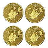 4pcs Tooth Fairy Coins, KidsTooth Exchange Gifts, Tooth Fairy Gifts, Commemorative Gold Coins.