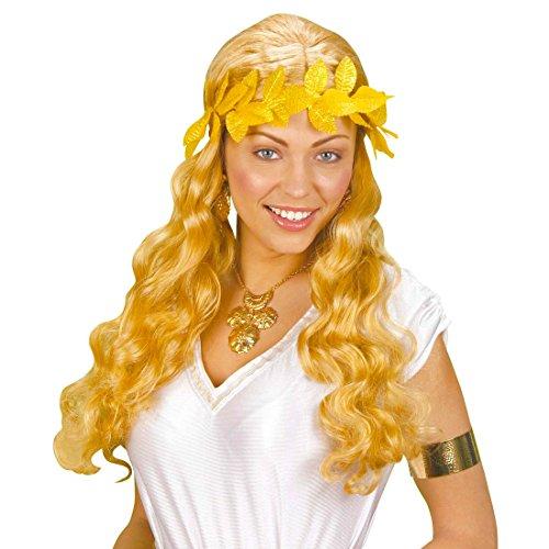 Amakando Corona dorada de laurel Csar victoria, corona romana, corona para el pelo, accesorio para disfraz de carnaval