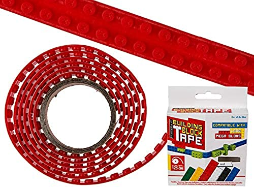 OOTB 36x Rotes Flexibles Baustein Tape z. Aufkleben 125x1,6cm in Farbbox