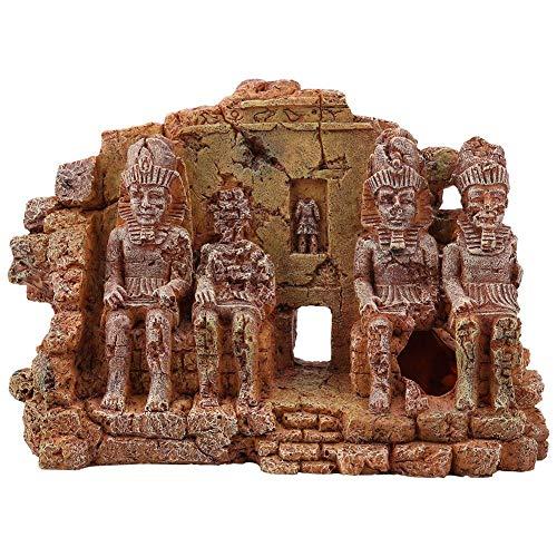 Hffheer Adorno de Acuario subacuático de Estilo Maya decoración subacuática ruinas mayas Edificios de Resina para decoración de paisajismo de peceras