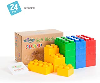 UNIPLAY Jumbo Soft Building Blocks - Plump Series (24pcs), Educational and Creative Toys, 100%Safe for Kids, Toddlers, Bab...
