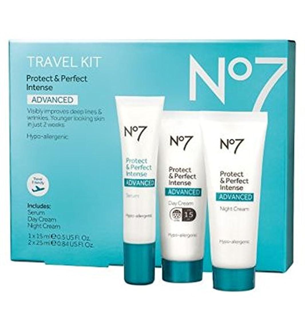尊敬する火薬絶望的なNo7保護&完璧な強烈な高度な旅行キット (No7) (x2) - No7 Protect & Perfect Intense ADVANCED Travel Kit (Pack of 2) [並行輸入品]