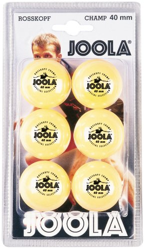 JOOLA Tischtennisbälle Rossi Champ 6er Blister Pack Selektierte 40+mm Durchmesser Tischtennis-Trainings-Bälle, Orange, one size