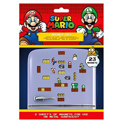 Super Mario MS65081 - Juego de 23 imanes (Reino Seta, Multicolor, 18 x 24 x 0, 3 cm)