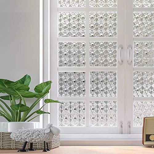 Meer Maten Privacy Raamfolies Doorschijnend Glas Tint Statische Zelfklevende Glasstickers Voor Veilig Thuis Decoratieve Warmteregeling anti-UV, 30 x 100 cm
