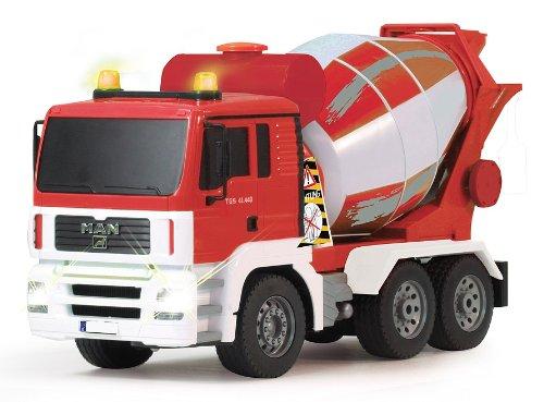 RC Auto kaufen Baufahrzeug Bild 4: BUSDUGA RC MAN Betonmischer 27MHz ferngesteuert & drehende Mischtrommel mit Entladefunktion - Motorsound, Hupe, Licht INKL. BATTERIEN - komplett Set*