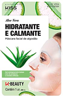 Kiss NY Professional Máscara Facial de Algodão - Aloe Vera, Kiss New York Professional
