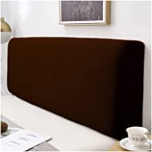 Bed Headboard Slipcover Protector with Stretch Side Dustproof Super King Cotton Cover for Twin Full King (Color : Brown, S...