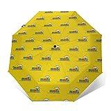 Regenschirm Taschenschirm Kompakter Falt-Regenschirm, Winddichter, Auf-Zu-Automatik, Verstärktes...