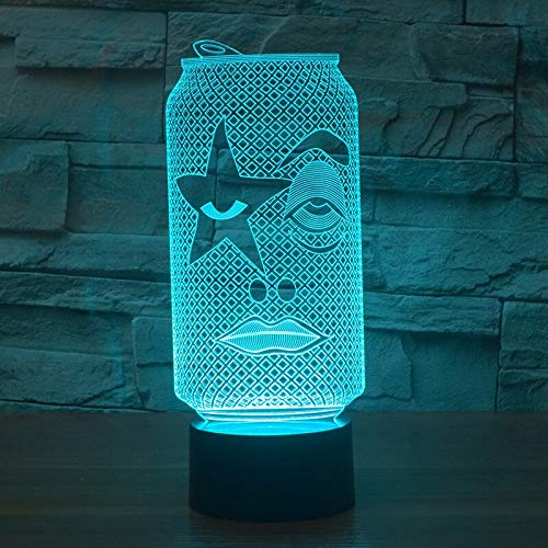 Solo 1 pieza Lámpara Led de siete colores Lámparas de mesa de ahorro de energía Latas Regalo de Navidad Juguetes para niños Lámpara de escritorio